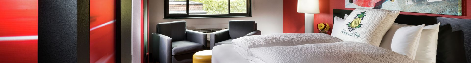 King bed in the Urban Suite guestroom