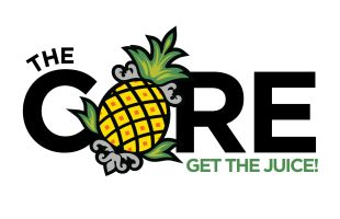 Th Core get the juice logo on white background
