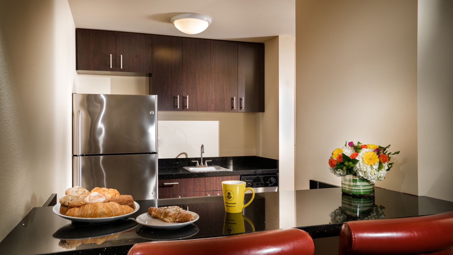 Kitchenette area in the Maestro Suite guestroom