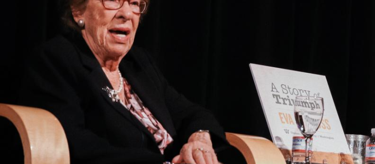 Eva Schloss had 'courage and fortitude' on display at UW