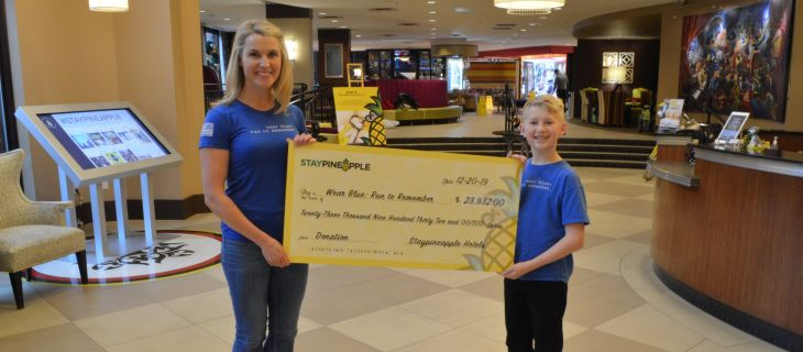 Staypineapple gifts wear blue: run to remember over $20,000