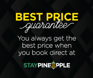 Best Price Guarantee. You always get the best price when you book direct at Staypineapple.